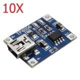 10X TP4056 1A Lipo Battery Charging Board Charger Module Mini USB Interface
