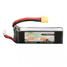 XF Power 11.1V 2200mah 3S 40C Lipo Battery XT60 Plug