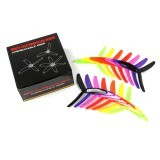 7 Pairs Kingkong 5X4X3 5040 5 Inch 3-Blade Rainbow Colorful Propeller CW CCW for FPV Racer