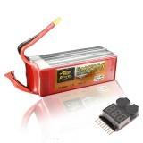 ZOP Power 22.2V 6200mAh 6S 45C Lipo Battery XT60 Plug With Battery Alarm