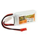 ZOP Power 11.1V 550mah 70C 3S Lipo Battery JST Plug