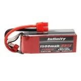 Infinity 1500mah 80C-110C 4S1P 14.8V RS FORCE EDITION Lipo Battery