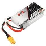 GAONENG GNB 7.4V 600mAh 2S 50C Lipo Battery XT30 Plug for FPV Racing