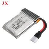 3X 3.7V 240mAh 25C Lipo Battery For Hubsan X4 H107L H107C Eachine E70 E010S H8 Mini V686 U816A V252