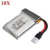 10X 3.7V 240mAh 25C Lipo Battery For Hubsan X4 H107L H107C Eachine E70 E010S H8 Mini U816A V252