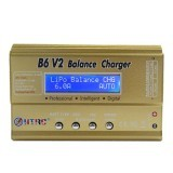 HTRC B6 V2 80W 10A Digital RC Battery Balance Charger Discharger for LiPo Battery