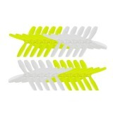10 Pairs KingKong 2535 63.5mm PC 4-blade Propeller CW CCW 1.5mm Mounting hole Bright Green and White