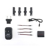 JJRC H37 Mini RC Drone Drone Spare Parts 4Pcs 3.7V 400mah 25C Battery And Charger Set X4A-A17