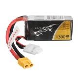 TATTU 11.1V 1300mAh 75C 14.4Wh 3S XT60 Plug Lipo Battery for RC Racing Drone