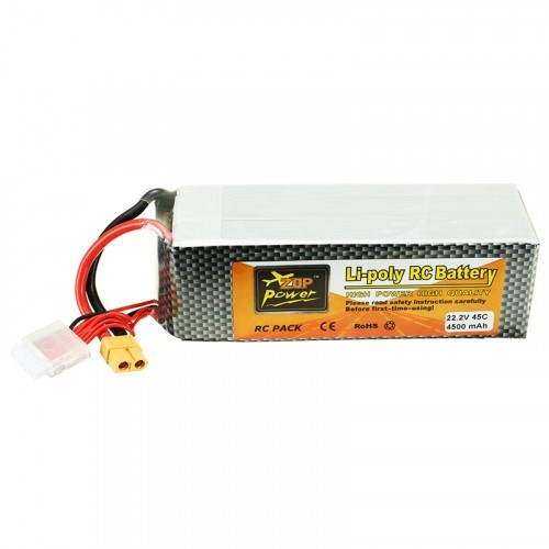 ZOP Power 22 2V 4500mah 45C 6S Lipo Battery XT60 Plug for ALZRC 505 RC  Helicopter