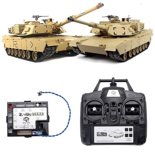 2 4G Transmitter Remote Control + Receiver Set For Heng Long Tank V5 3  Version 1/16 Scale