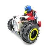 Flytec 989-333 2.4G Amphibious Four wheel Drive Stunt Remote Control Car Motorcycle Boat Toys With LED Light