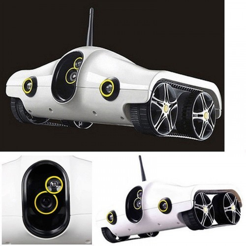 69-001 Wifi Control Wireless I-Spy Tank Robot Remote Control Car With  Camera Video Support Android IOS Phone Toy