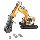 DOUBLE EAGLE E561-001 1/16 17Channel Construction Tractor Alloy 3 In 1 Excavators Remote Control Car Toys