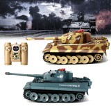 HUANQI 518 1/24 27MHZ 40MHZ Remote Control Car Battle Tank Wireless Infrared Game Against Toys