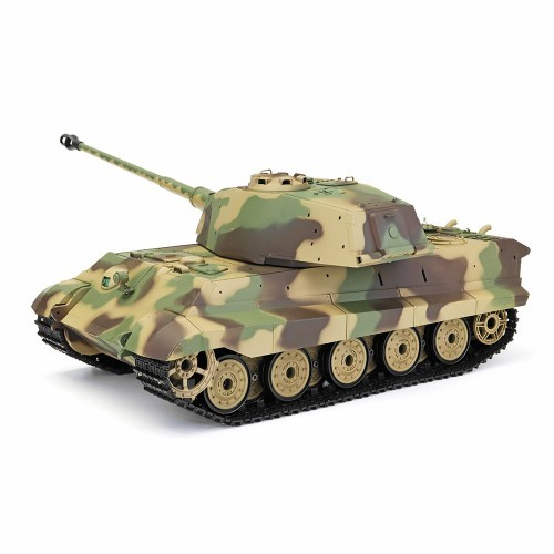 Henglong 3888A -1 1/16 2 4G German Tiger King Henschel Rc Battle Tank  Smoking Sound Plastic One Toys