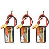 3Pcs ZOP POWER 7.4V 500mAh 45C 2S Lipo Battery With XT60 Plug For RC Model