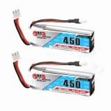 2X Gaoneng GNB 7.4V 450mAh 2S 80/160C Lipo Battery White Plug