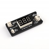 1S LiPo Battery Voltage Checker Tester For Drone Battery w/ JST MCX PH 2.0 and Micro Losi Cable