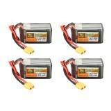 4Pcs ZOP Power 14.8V 1800mAh 65C 4S Lipo Battery XT60 Plug For PFV Racing Drone