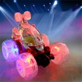 1/18 Rechargeable Rc Stunt Car 360 Degree Rotation with Flashing LED Light Toy