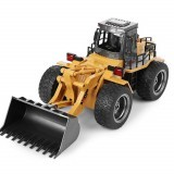 HuiNa Toys 583 6 Channel 1/18 Remote Control Metal Bulldozer Charging Remote Control Car Metal Edition