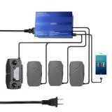 5-in-1 Intelligent Multi Battery Controller Smart Charger Hub w/ 2 USB Port For DJI MAVIC 2 Pro/Zoom