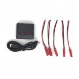 1 to 5 3.7V 1S LiPo Battery USB Charger with JST Charging Cable for Syma X5C X5SW UDI U817 V686G