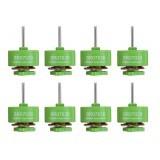 8 PCS Wholesale Racerstar 0703 BR0703B Green Edition 15000KV Brushless Motor 1-2S For RC Drone