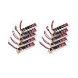 10Pcs URUAV 3.8V 250mAh 40C/80C 1S Lipo Battery PH2.0 for Eachine US65 UK65 QX65 URUAV UR65 Mobula7