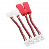 4PCS 3.7V 1S Battery Charger Charging Cable JST MX2.0 Plug for AirJugar YF-CG001 Charger