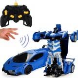Wei Yu Toys 1/14 2.4G Gesture Induction Radio Control Rc Car One-Key Deformation Lighting Robot