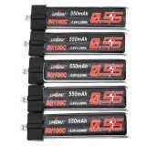 URUAV 3.8V 550Mah 50/100C 1S HV 4.35V Lipo Battery PH2.0 Plug for Emax Tinyhawk Kingkong/LDARC TINY