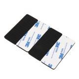 4Pcs RJXHOBBY 75x30x3mm Mesh Surface FPV Anti-Slip Damping Silicone Mat Battery Adhesive Tape