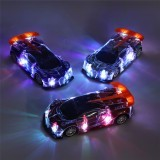 1PC Heshengyuan Toys 664-85 1/18 27MHZ 4CH Rc Car Simulation Colorful LED Lights without Battery