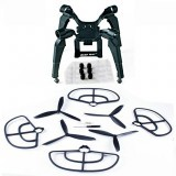 Upgraded Spring Landing Gear Skid Camera Mount Bracket Blade Props Guard for MJX B2SE B2W Drone
