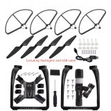 Upgraded Propeller Blade Protector Flashlight Black Kit RC Drone Parts for Hubsan H501S