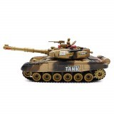 BB638 Plastic 2.4G 10CH Remote Control Tank With Light Sound Remote Control Car Toys