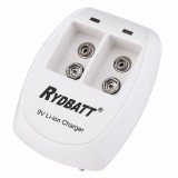 RYDBATT JBC005-01 2 Slots LED Display Battery Charger for 9V Lipo Battery