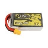 TATTU 14.8V 1550mAh 120C 4S Lipo Battery XT60 Plug for FPV Racing Drone