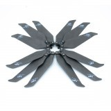Hobbyporter 8743F Carbon Fiber 3-blade Foldable Propeller Props for DJI Mavic 2 Pro/Zoom RC Drone 2 Pairs