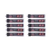 10Pcs URUAV 3.8V 300Mah 40/80C 1S HV 4.35V Lipo Battery PH2.0 Plug for Eachine TRASHCAN Snapper6 7 Mobula7