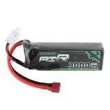Ovonic 11.1V 3000mAh 50C 3S Lipo Battery T Plug for RC Glider Airplane