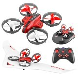 L6082 DIY All in One Air Genius Drone 3-Mode With Fixed Wing Glider Attitude Hold RC Drone RTF