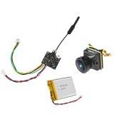 Eachine VTX03S + Caddx Turbo EOS2  All in One 0/25/50/100/200mw 40CH 5.8G FPV Transmitter 4:3 1200TVL 2.1mm Mini FPV Camera with 3.7V 500mAh LiPo Battery