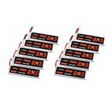 10Pcs URUAV 3.8V 450mAh 80C/160C 1S Lipo Battery PH2.0 Plug for EMAX Tinyhawk II 75mm Tiny7 Happymodel Snapper7