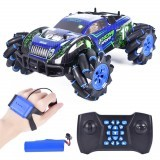 1:12 RQ2078 Four-Wheel Drive Gesture Sensing Dual Remote Control Light Music Dancing 360 ° Rotating Off-Road Climbing Remote Control Car