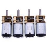 Machifit 5Pcs 56RPM N20 DC Gear Motor Miniature High Torque Electric Screwdriver Gear Box Motor