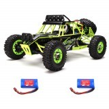 WLtoys 12427 2.4G 1/12 4WD Crawler Remote Control Car With LED Light Two Battery