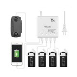 YX 4-IN-1 Multi Battery Intelligent Fast Charging Hub Controller USB Charger Japanese Version for DJI Mavic Mini Drone